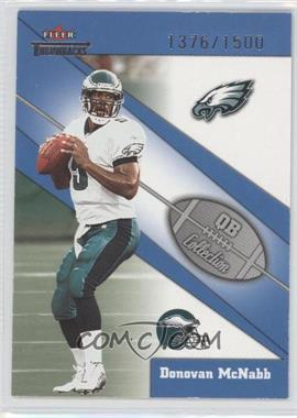 2002 Fleer Throwbacks QB Collection #1 QB - Donovan McNabb /1500