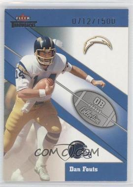 2002 Fleer Throwbacks QB Collection #10 QB - Dan Fouts /1500