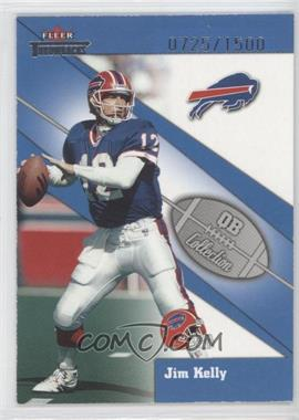 2002 Fleer Throwbacks QB Collection #13 QB - Jim Kelly /1500