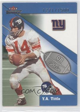 2002 Fleer Throwbacks QB Collection #15 QB - Y.A. Tittle /1500