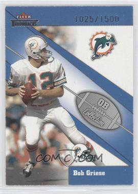 2002 Fleer Throwbacks QB Collection #17 QB - Bob Griese /1500