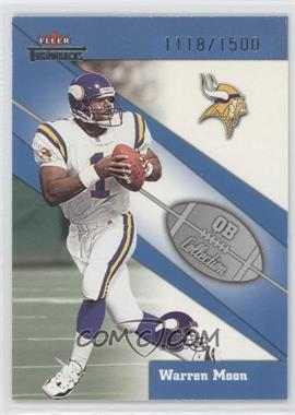 2002 Fleer Throwbacks QB Collection #2 QB - Warren Moon /1500