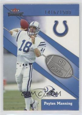 2002 Fleer Throwbacks QB Collection #8 QB - Peyton Manning /1500