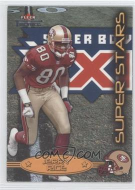 2002 Fleer Throwbacks Super Stars #1 SS - Jerry Rice