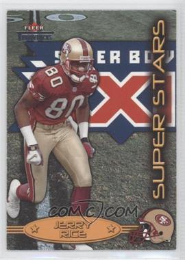 2002 Fleer Throwbacks Super Stars #1 SS - Jerry Rice