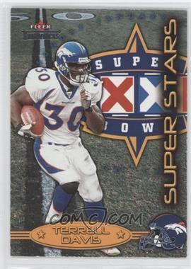 2002 Fleer Throwbacks Super Stars #2 SS - Terrell Davis