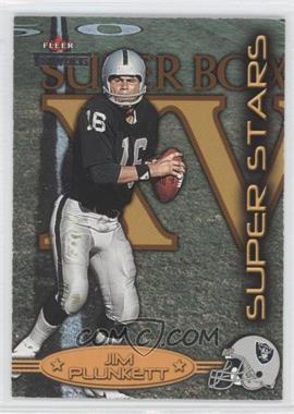 2002 Fleer Throwbacks Super Stars #4 SS - Jim Plunkett