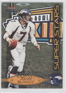 2002 Fleer Throwbacks Super Stars #8 SS - John Elway