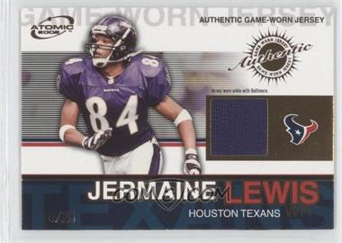 2002 Pacific Atomic - Authentic Game-Worn Jersey - Gold #43 - Jermaine Lewis /25