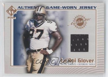 2002 Pacific Private Stock Reserve Authentic Game-Worn Jersey #38 - La'Roi Glover
