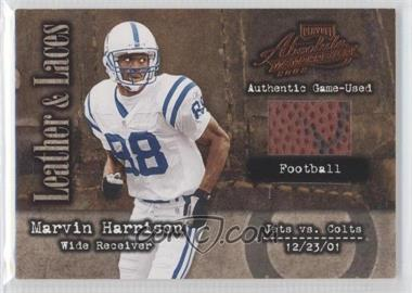 2002 Playoff Absolute Memorabilia Leather and Laces Football #LL-14 - Marvin Harrison /250