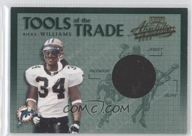 2002 Playoff Absolute Memorabilia Tools of the Trade Materials [Memorabilia] #TT-23 - Ricky Williams /150
