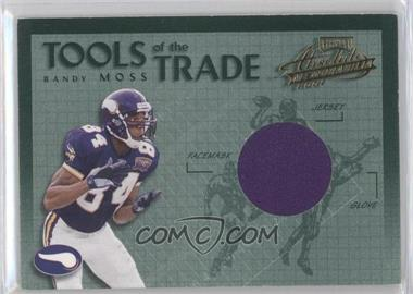 2002 Playoff Absolute Memorabilia Tools of the Trade Materials [Memorabilia] #TT-28 - Randy Moss /150