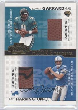 2002 Playoff Honors Rookie Tandems Gold #RT-9 - David Garrard, Joey Harrington /250