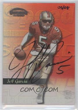 2002 Playoff Prime Signatures - Honor Roll Buyback Signatures #JG99 - Jeff Garcia (1999 Contenders SSD) /8