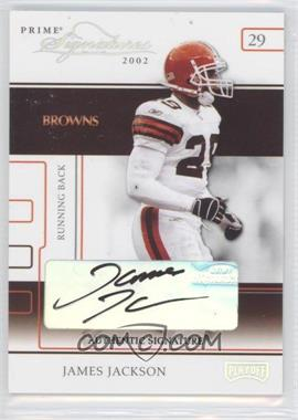 2002 Playoff Prime Signatures Authentic Signatures [Autographed] #42 - James Jackson /126