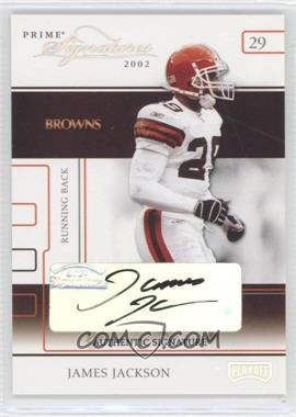 2002 Playoff Prime Signatures Authentic Signatures [Autographed] #42 - James Jackson /126