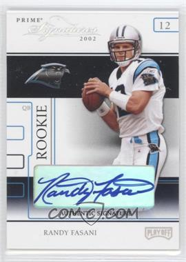 2002 Playoff Prime Signatures Authentic Signatures [Autographed] #94 - Randy Fasani /120