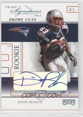 2002 Playoff Prime Signatures Prime Cut Signatures [Autographed] #102 - Deion Branch /5