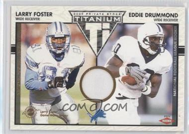 2002 Private Stock Titanium - [Base] #125 - Larry Foster, Eddie Drummond /1100