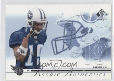 2002 SP Authentic - [Base] #175 - Darrell Hill /1150