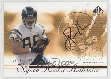 2002 SP Authentic - [Base] #207 - Justin Peelle /1150