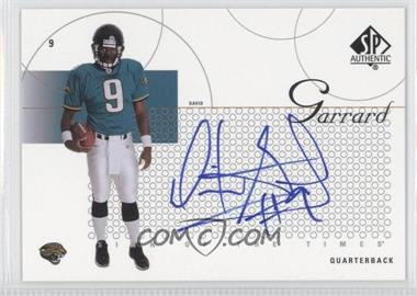 2002 SP Authentic - Sign of the Times #ST-DG - David Garrard