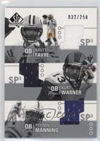 Brett Favre, Kurt Warner, Peyton Manning /250
