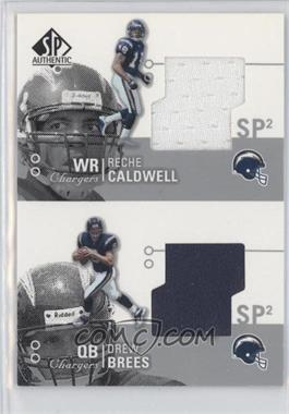 2002 SP Authentic [???] #AT2-CB - Reche Caldwell, Drew Brees