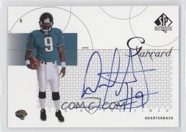 2002 SP Authentic Sign of the Times #ST-DG - David Garrard