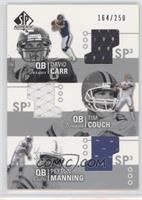 Tim Couch, Peyton Manning, David Carr /250