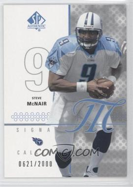 2002 SP Authentic #103 - Steve McNair /2000