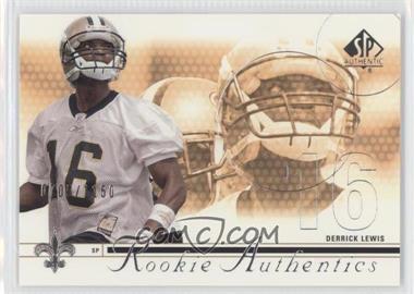 2002 SP Authentic #161 - Derrick Lewis /1150