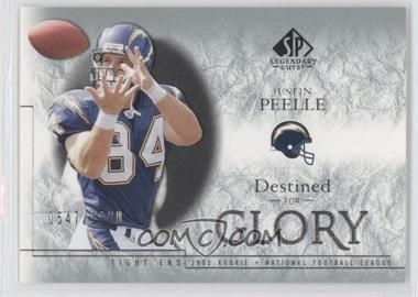2002 SP Legendary Cuts [???] #178 - Justin Peelle /1100