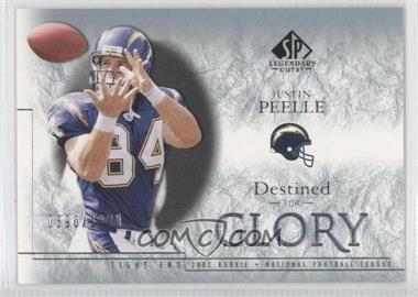 2002 SP Legendary Cuts [???] #178 - Justin Peelle /1100