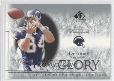 2002 SP Legendary Cuts #178 - Justin Peelle /1100