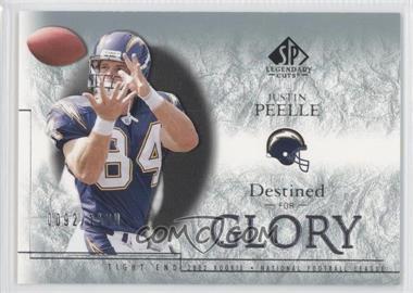 2002 SP Legendary Cuts #178 - Justin Peelle /1100