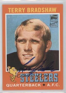 2002 Topps - Terry Bradshaw Reprints #1 - Terry Bradshaw (autograph)