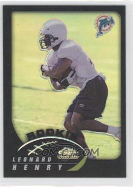 2002 Topps Chrome - [Base] - Black Refractor #213 - Leonard Henry /100