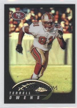 2002 Topps Chrome - [Base] - Black Refractor #25 - Terrell Owens /599