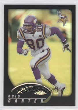 2002 Topps Chrome Black Refractor #115 - Cris Carter /599