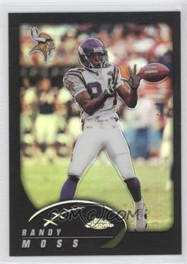 2002 Topps Chrome Black Refractor #17 - Randy Moss /599