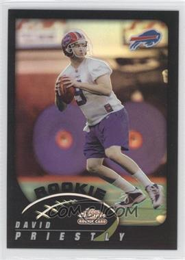 2002 Topps Chrome Black Refractor #256 - David Priestly /100