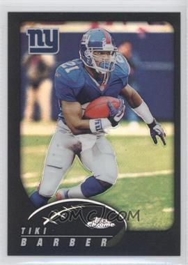 2002 Topps Chrome Black Refractor #98 - Tiki Barber /599