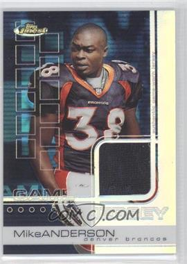 2002 Topps Finest Refractor #74 - Mike Anderson /250