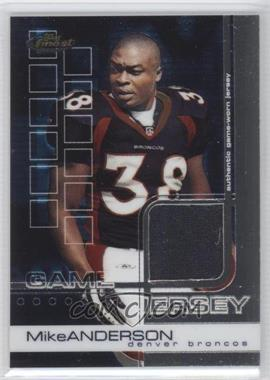 2002 Topps Finest #74 - Mike Anderson /999