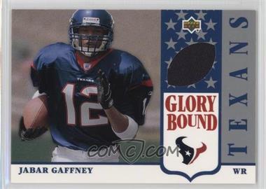 2002 UD Authentics - Glory Bound Jerseys #GBJ-JG - Jabar Gaffney