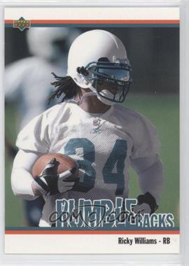 2002 UD Authentics - Rumble Backs #RB-10 - Ricky Williams