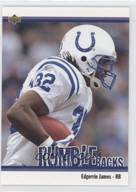 2002 UD Authentics - Rumble Backs #RB-3 - Edgerrin James