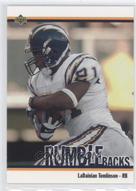 2002 UD Authentics - Rumble Backs #RB-6 - LaDainian Tomlinson